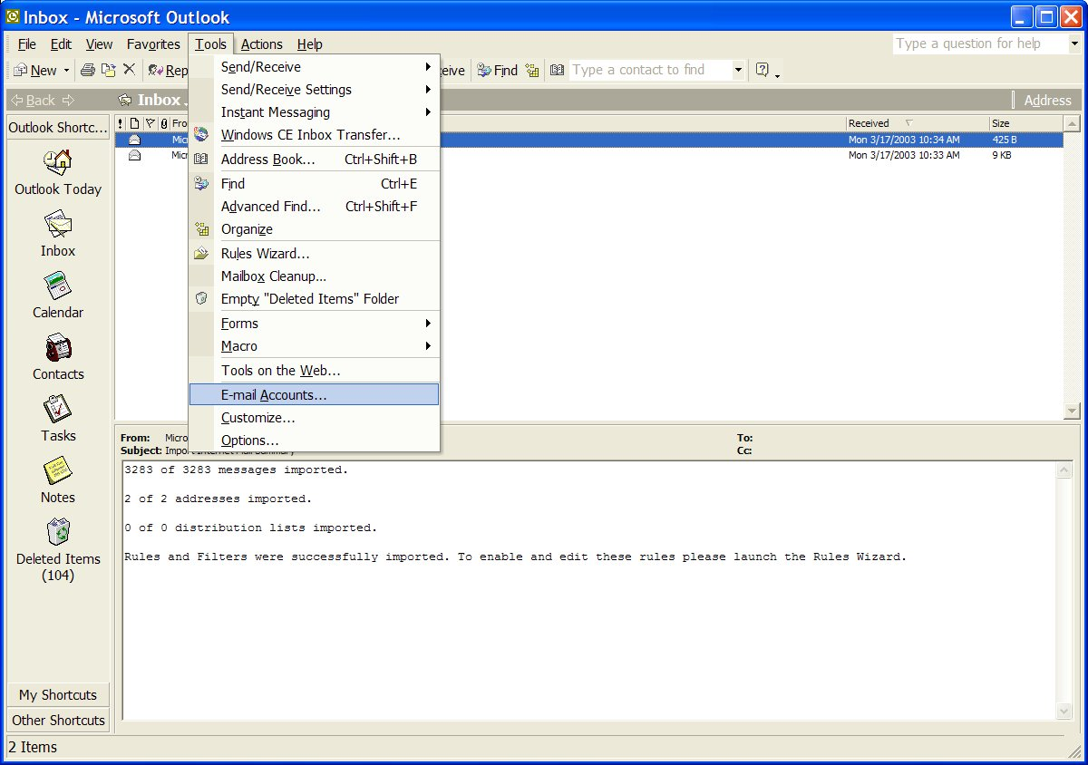 Microsoft OutLook Mail Reader
